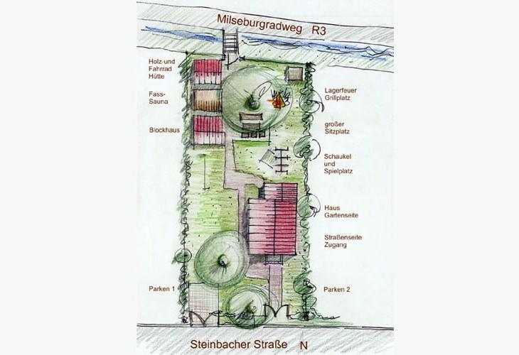 Grundriss - Rhönbude - Garten