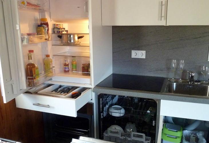 Rhönbude - Küche offen